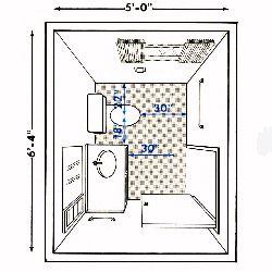 Pics For gt Half Bathroom Dimensions