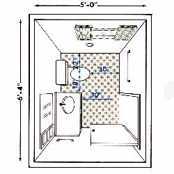 Bathroom plans bathroom designs for Half size set of plans